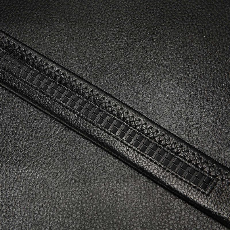[Lfmb] Pria Belt Automatic Kulit Asli Mewah Hitam Sabuk Pria Sabuk Gesper Belt Berkualitas Tinggi Cummerbunds pria