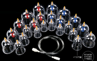 24 Pcs Set Massage Vacuum Cupping Set Thicker Magnetic Aspirating Cupping Cans Acupuncture Massage Suction Cup