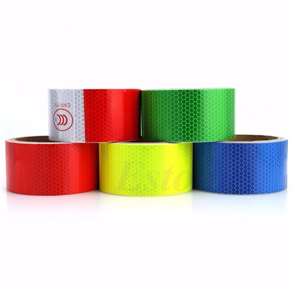 Back To Search Resultssecurity & Protection Workplace Safety Supplies Open-Minded 1pc 5cmx3m Reflective Safety Warning Tape Film Sticker Adhesive Decoration Warning Tape Fast Color
