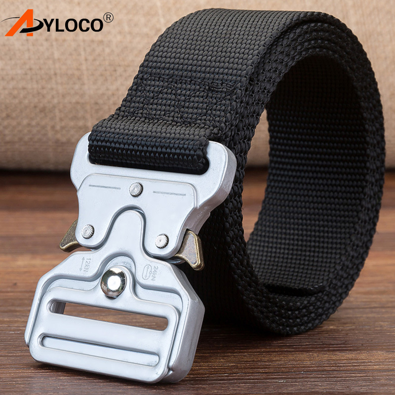 AYLOCO Military Equipment Knock Off SWAT Tactical Belt Men's Heavy Duty US Soldier Combat Army Belts Sturdy Nylon Waistband