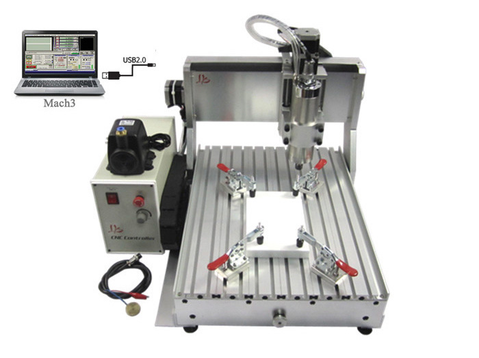 Free shipping! CNC wood router LYCNC3040Z-VFD800W USB 3axis CNC drilling and milling machine for wood, metal, aluminum carving cnc 5axis a aixs rotary axis t chuck type for cnc router cnc milling machine best quality
