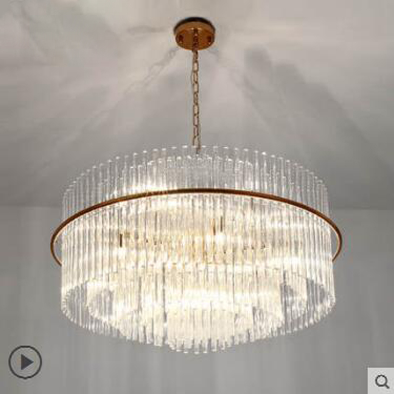 Post-modern living room chandelier simple creative Nordic chandelier plate room villa hotel light luxury crystal lamp led lamps nordic modern 10 head pendant light creative steel spider lamps unfoldable living room dining room post modern toolery led lamp