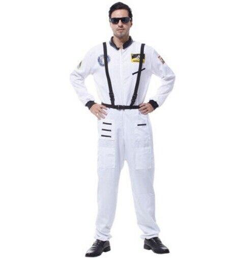 space suit for men space costume pilot costumes for men white astronaut suit uniform costumes halloween suit carnival clothing