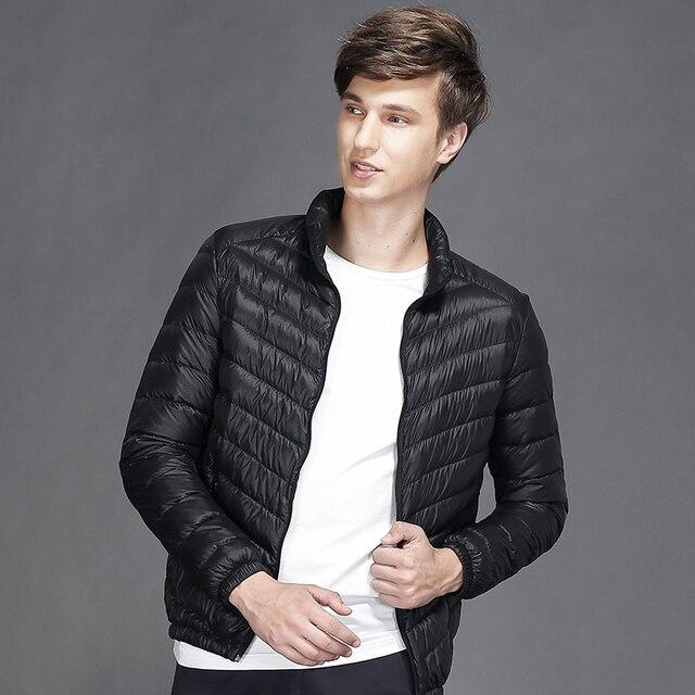 High Quality Men Nylon Windbreaker Jacket Lightweight Winter ...