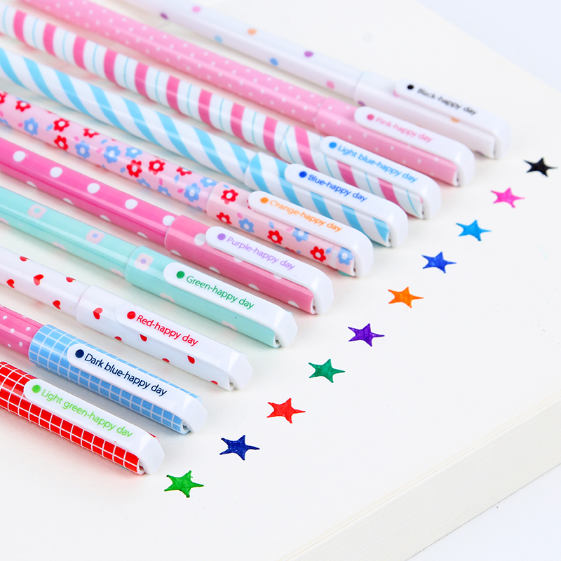 10 pcs/lot New kawaii Cute Colorful Cartoon Gel Pen Set Kawaii Korean Stationery Creative Gift School Supplies 04035 10 pcs lot new cute cartoon colorful gel pen set kawaii korean stationery creative gift school supplies