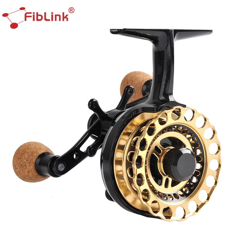 Fiblink Inline Glace Moulinet De Pêche 4 + 1 Roulement À Billes 2.7: 1 Pêche Sur la Glace Reel Droitier Radeau De Pêche roue De Pêche Accessoires