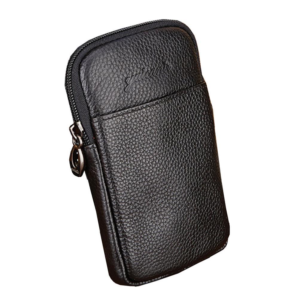 2019 Men Leather Crocodile Grain Vintage Cell/Mobile Phone Cover Case Skin Hip Belt Bum Fanny Pack Waist Bag Pouch