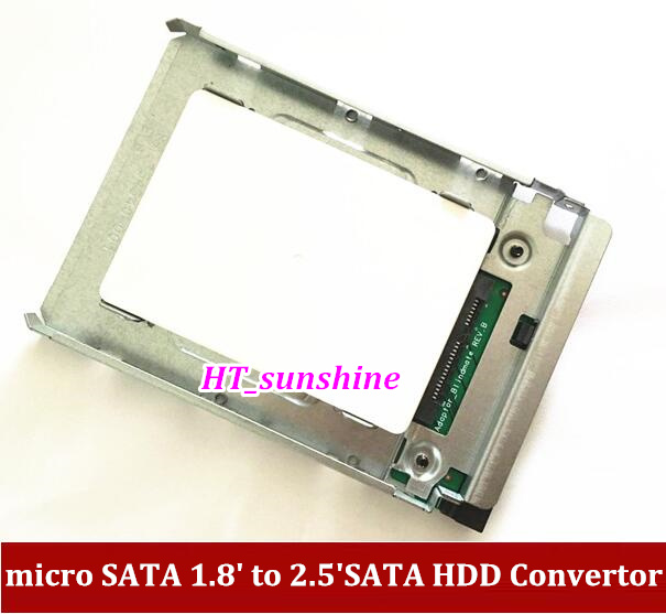 1PCS Free Shipping micro SATA 1 8 to 2 5 HDD Convertor SSD 1 8inch solid