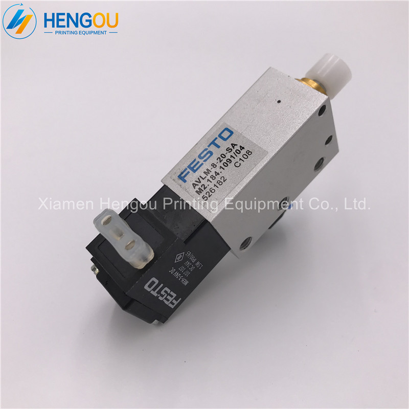 1 piece free shipping Heidelberg SM102 CD102 spare parts valve AVLM8-20-SA M2.184.1091 high quality and Brand new brand new spare parts 20 750 2262c 2r with free dhl ems