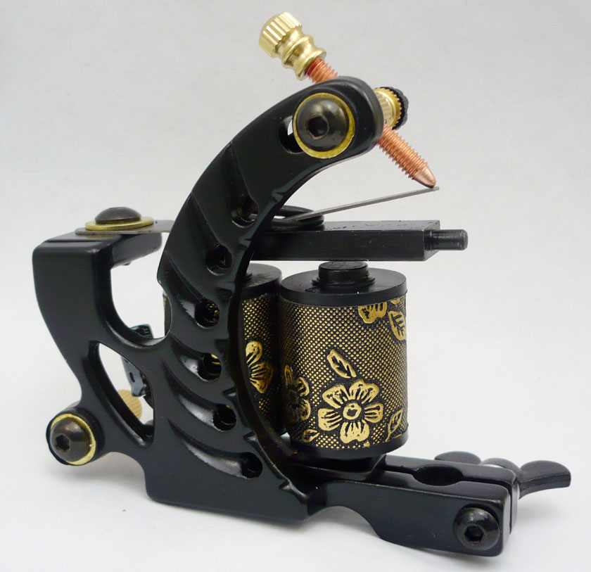10Pcs lot Pro Casting Iron Tattoo Machine 10 Wraps coil stainless steel Tattoos Body Art Gun
