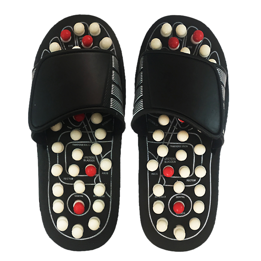Foot massage slippers ABS sandals foot sole massager for men and women health shoes reflexology care massage Relaxation tools electric antistress therapy rollers shiatsu kneading foot legs arms massager vibrator foot massage machine foot care device hot