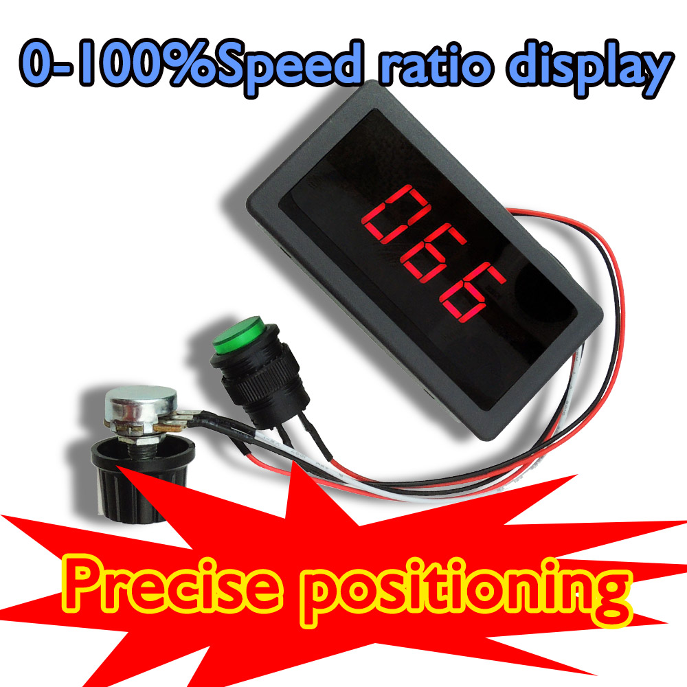 DC 6-30V 12V 24V 8A PWM Motor Speed Controller With Digital Display /& Switch