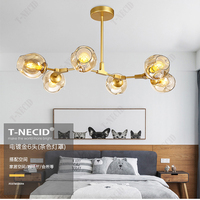 Creative Stained Glass Bubble Ball Chandelier Lighting Modern Dining Room