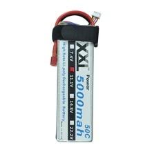 2 pcs XXL RC Lipo Batterie 5000 mAh 11.1 V 3 S 50C pour Hélicoptère KT Plaque Monstre Camion De Voiture avion