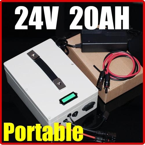 24V 20AH E Bike Li ion Battery Pack Waterproof Case 5V USB Port free customs taxes 24v 20ah e bike battery li ion 24v battery pack for e bike 24v 20ah lithium battery with charger