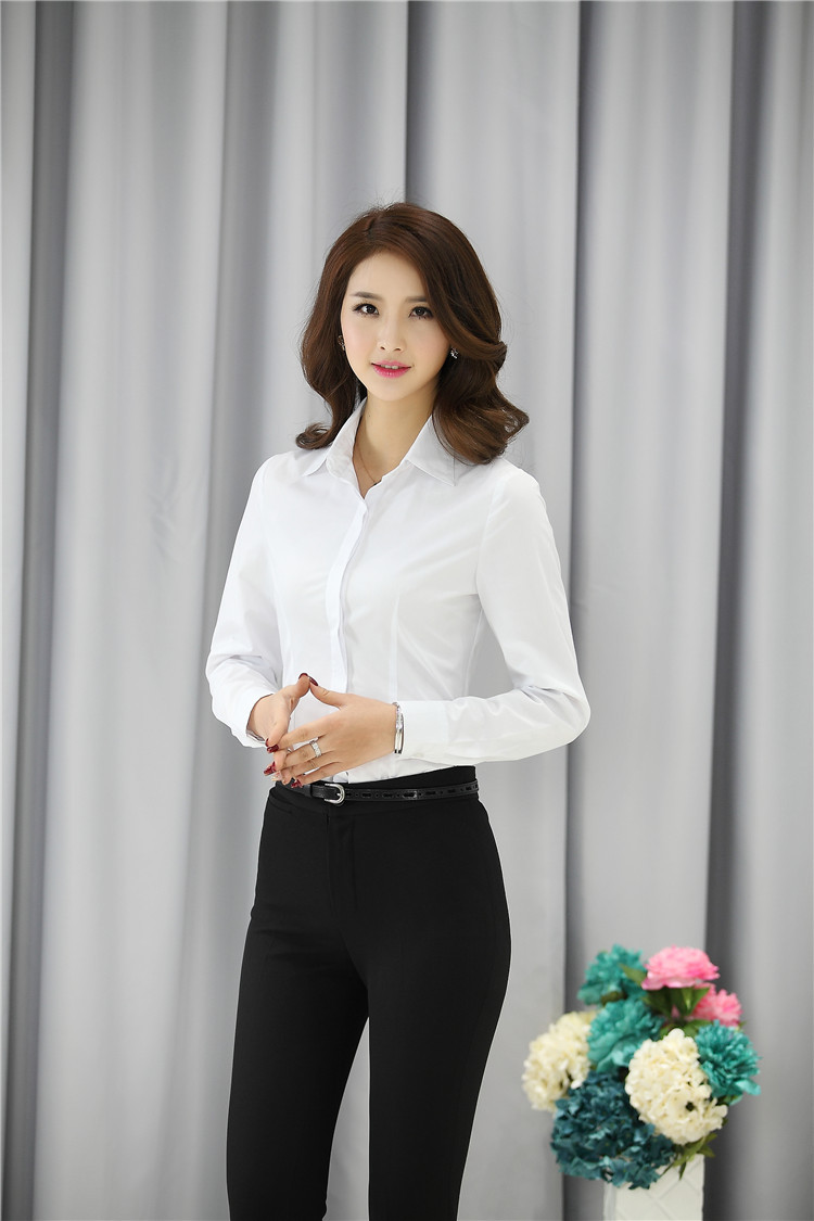 04428439db US $21.7  Elegant White Spring Autumn Business Women Blouses Work Wear  Shirts Female Tops Blusas Femininas Clothes Free Shipping-in Blouses &  Shirts ...