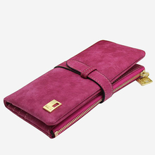 Woman wallet Long Fashion Luxury Brand frosted Leather purse