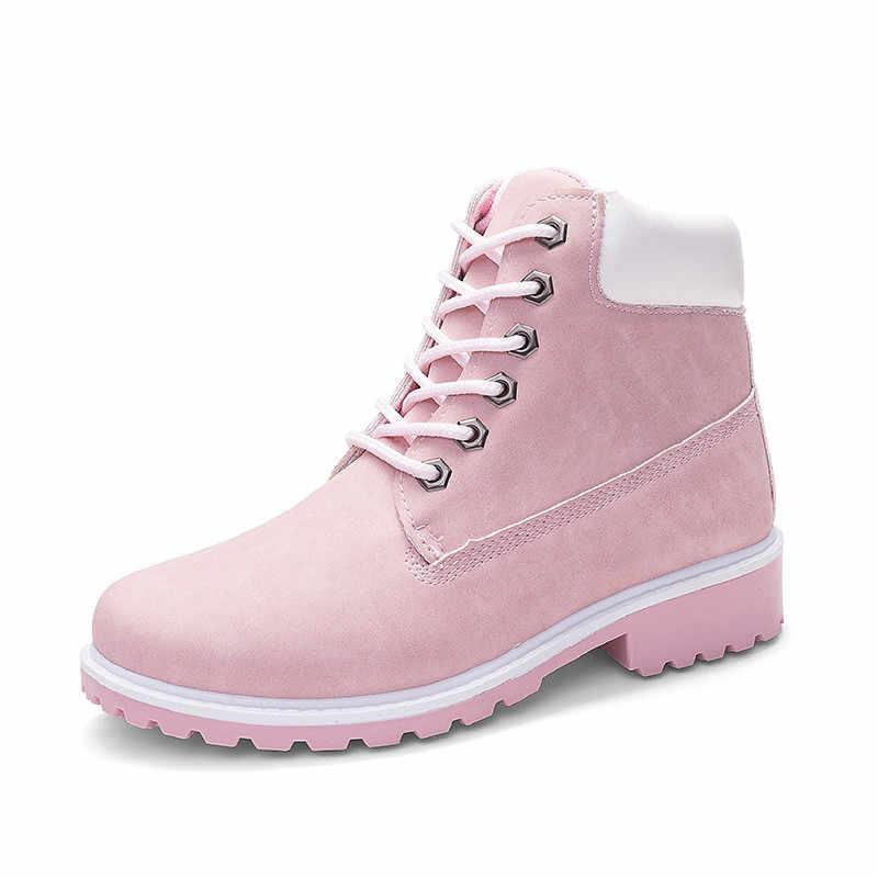 MORAZORA 2019 yeni varış kadın yarım çizmeler sonbahar kış kamuflaj platform çizmeler lace up rahat rahat çift ayakkabı