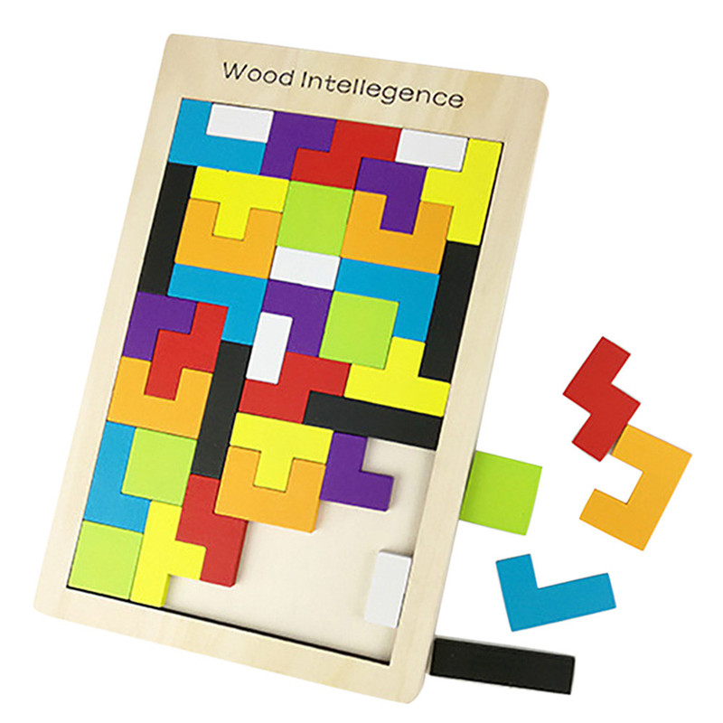 Puzzles For Children Wood Puzzle Random Color Unisex Plastic Toys For Children Wooden Toys For Kids Games Dropshipping 2018