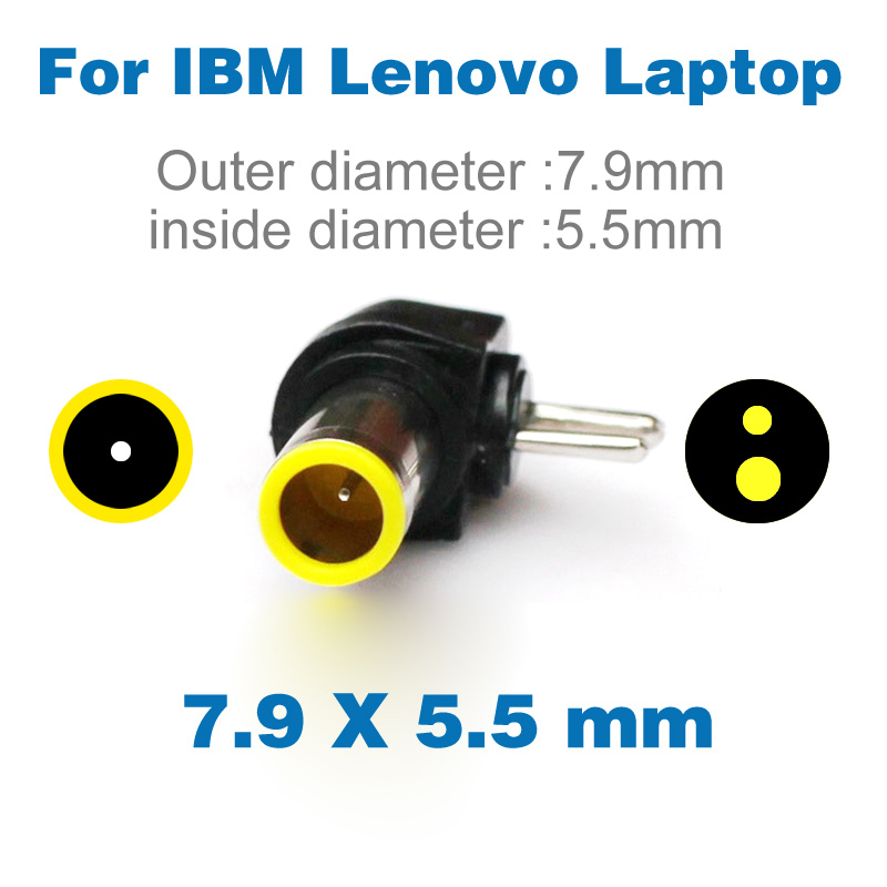 2 Pin DC Power 7.9*5.5mm Jack Plug Adapter For IBM Lenovo Notebook Universal Laptops Power Adapter 7.9x5.5mm DC Terminal 7.9 5.5