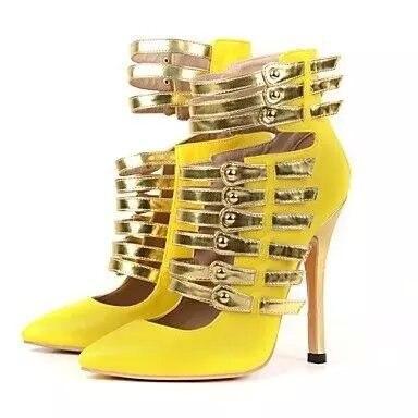 Or Métal Chaussures Verni Mariage Parti Marque Style Talons Cuir Sandales Talon 2 De Hauts Lettre Sexy Piste 1 Femmes En 1 D'été c4w0wEqY