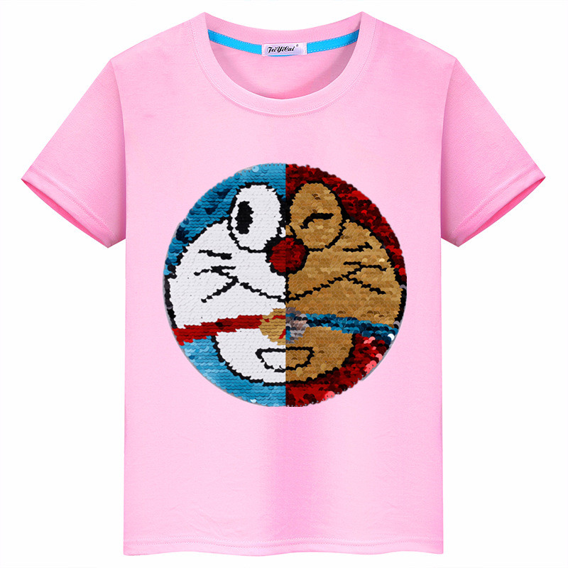 Colorful Flying Pig with Unicorn Toddler Baby Girls Short Sleeve Ruffle T-Shirt