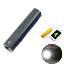 high power Bright led flashlight usb power bank build-in rec