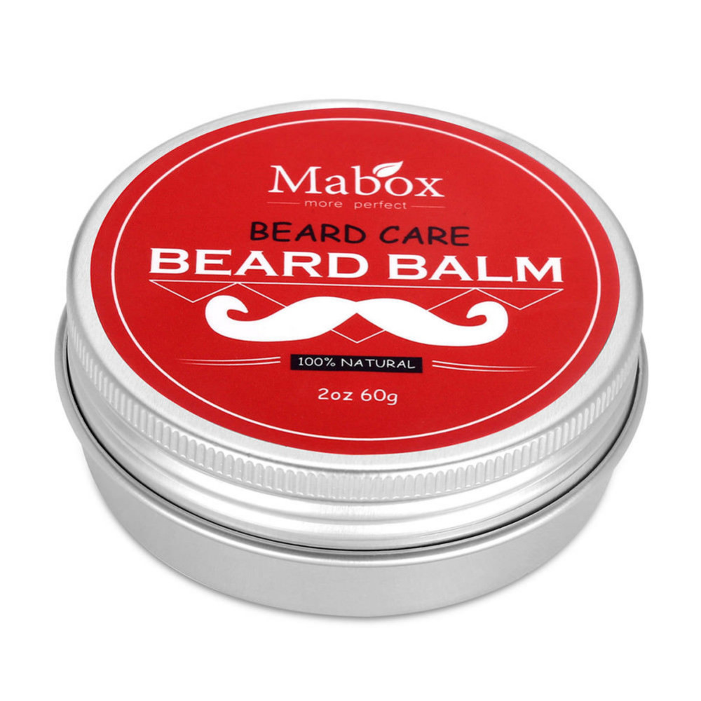 Red Box Moisturizing Nursing Beard Cream 1pc Natural Beard Balm for Gentlemen Beard Used Professional Tool Oil Care Wax Effect 4