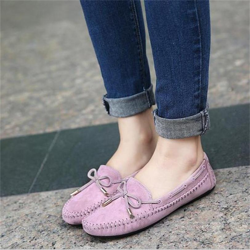 Trendy 2017 Spring Comfortable Flats Shoes Women Casual Flat Heel Shoes Bow Knot Round Toe Candy Color Loafer Shoes Plus Size plus size 34 41 black khaki lace bow flats shoes for womens ds219 fashion round toe bowtie sweet spring summer fall flats shoes