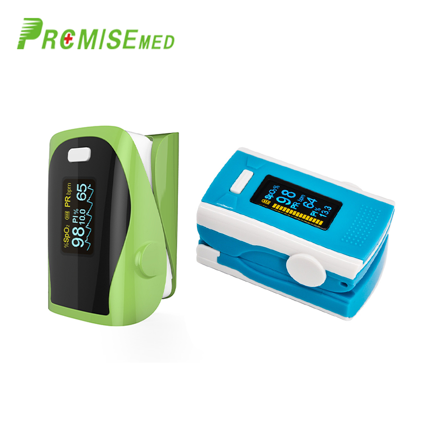 PR+MISE M110blue+F9green Household Health Monitors Finger Pulse Oximeter ABS Silicone Sensor Equipment Pulsioximetro