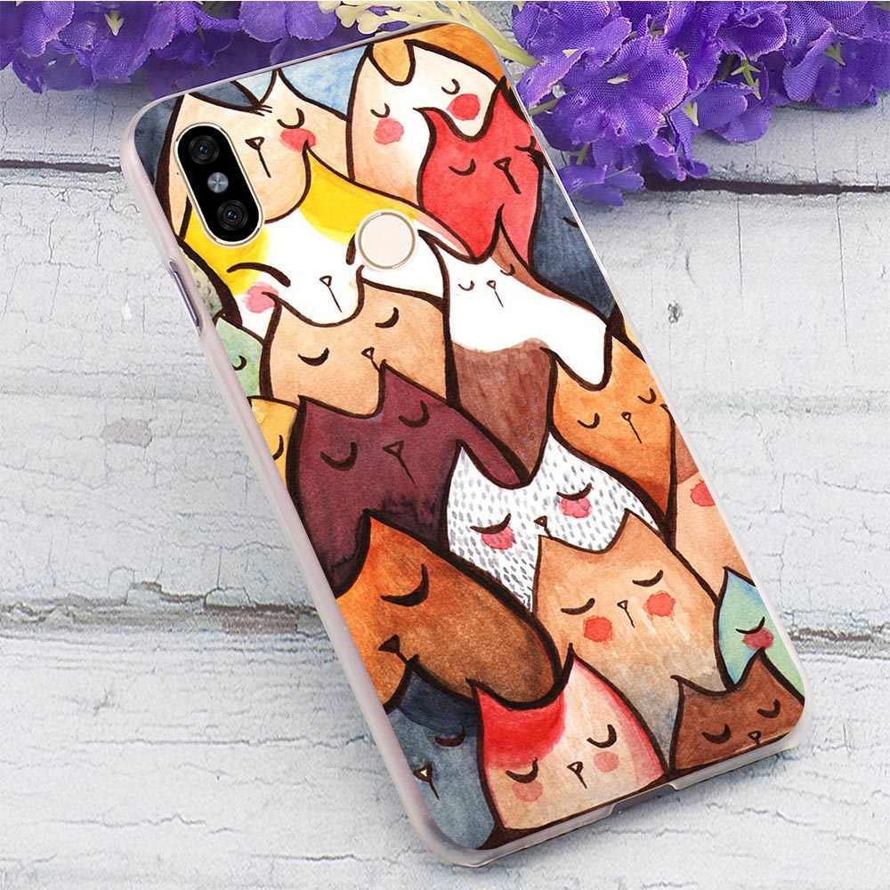Кошачья мордочка» Жесткий Чехол для Xiaomi Redmi 3S 3Pro чехол для телефона для Mi Redmi 4 4X 4A 5 5A плюс 6 6A Pro Note 7 Prime S2 3 3S задняя защитная крышка из прочного