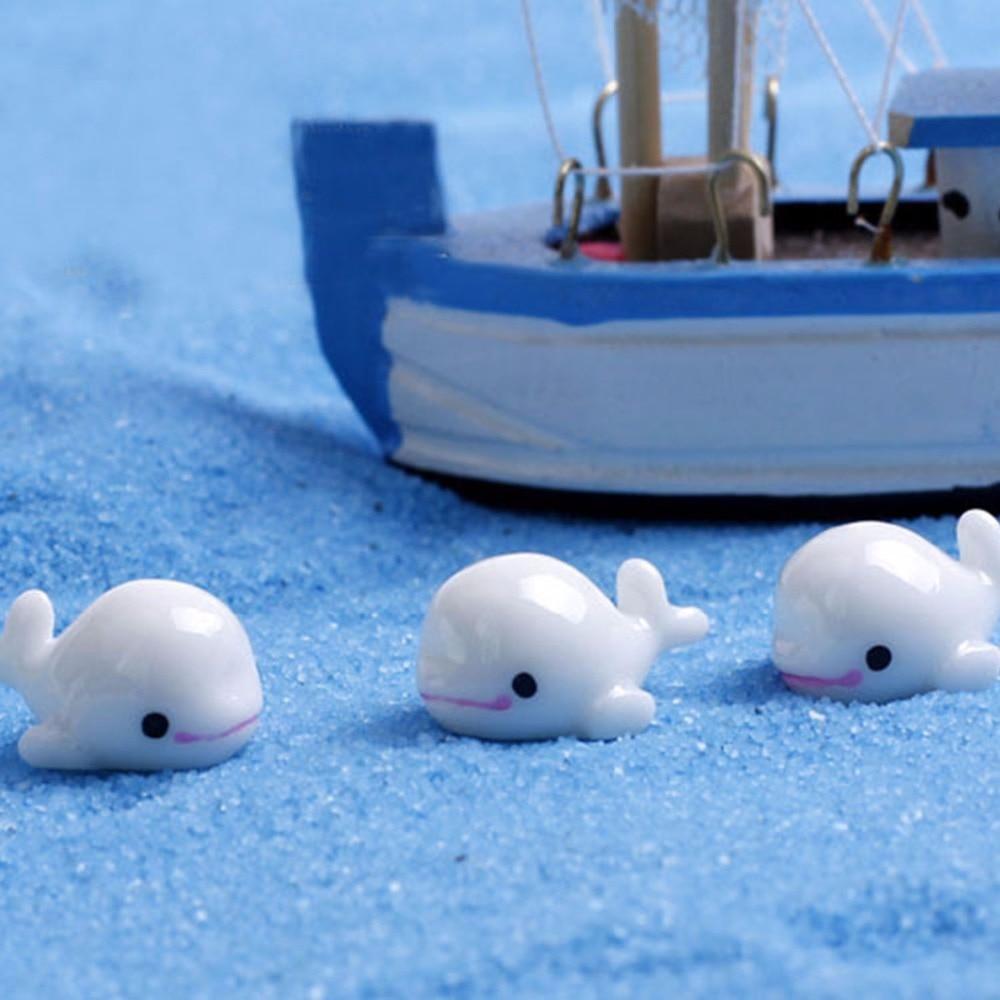 aliexpress com buy 5pcs set cute white dolphin animal miniatures