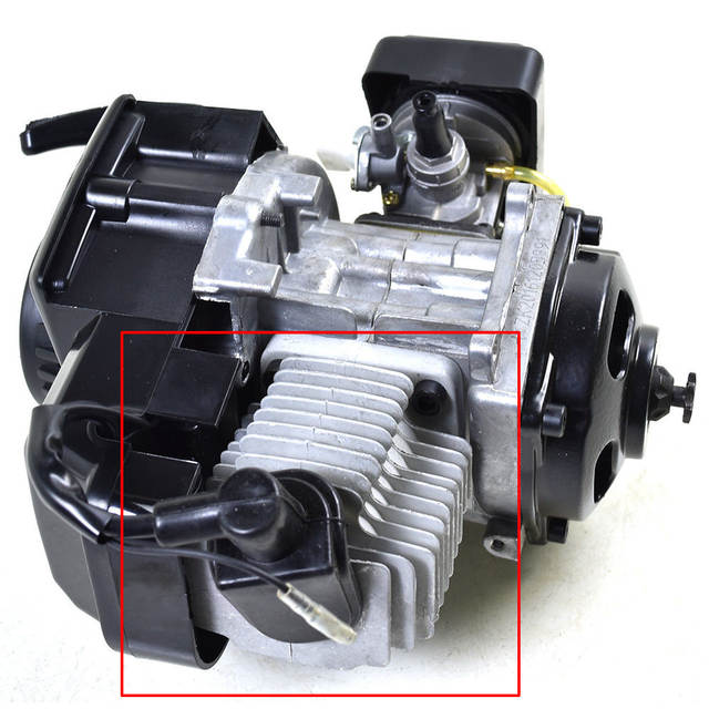 Placeholder 49cc 2 Stroke Embly Gas Engine 44mm Cylinder Head With Piston Kits For Motorized Bicycle Motor