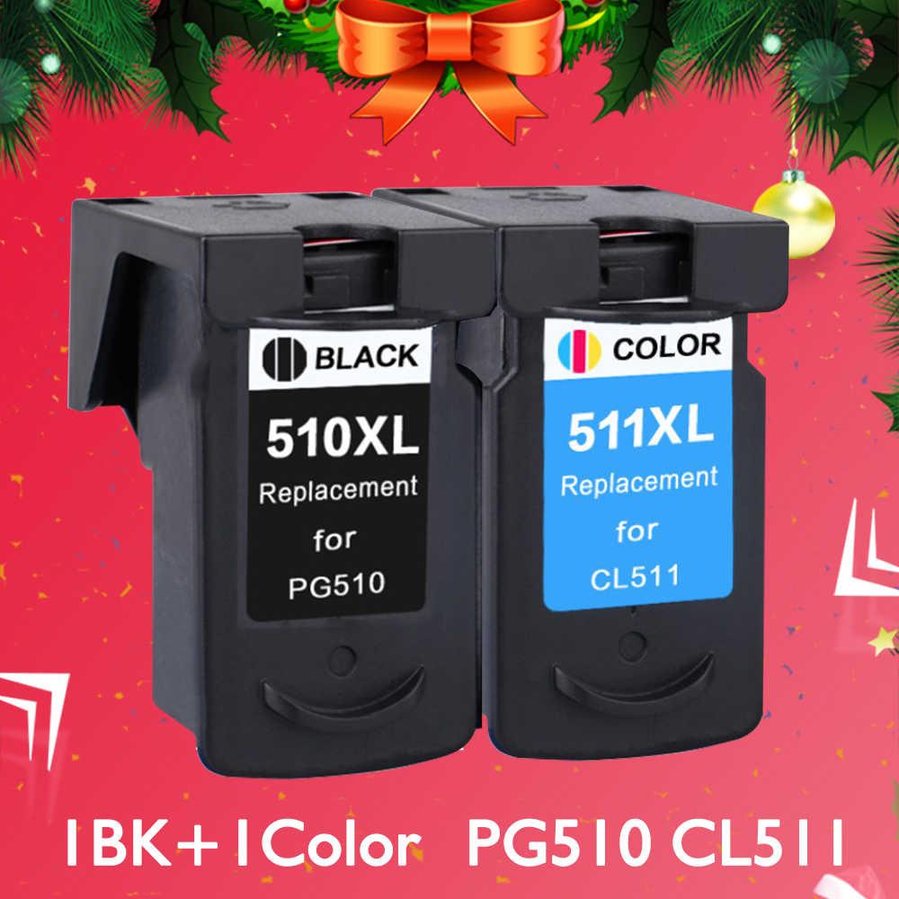 CMYK إمدادات متوافق 510XL خرطوشة حبر استبدال لكانون PG510 PG-510 PG 510 Pixma MP240 MP250 MP260 MP270 MP280
