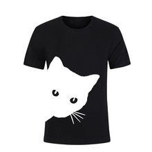 Cat looking out side Print Women tshirt Casual Funny t shirt For Lady Girl Top Tee Hipster Tumblr Drop Ship girl print ladder cut out tee