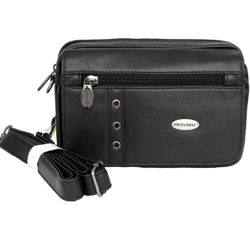 Gold Coral Waist packs Genuine leather Men Belt bags for man casual vintage Shoulder bag travel Phone Pouch men's Waist bag Male цены
