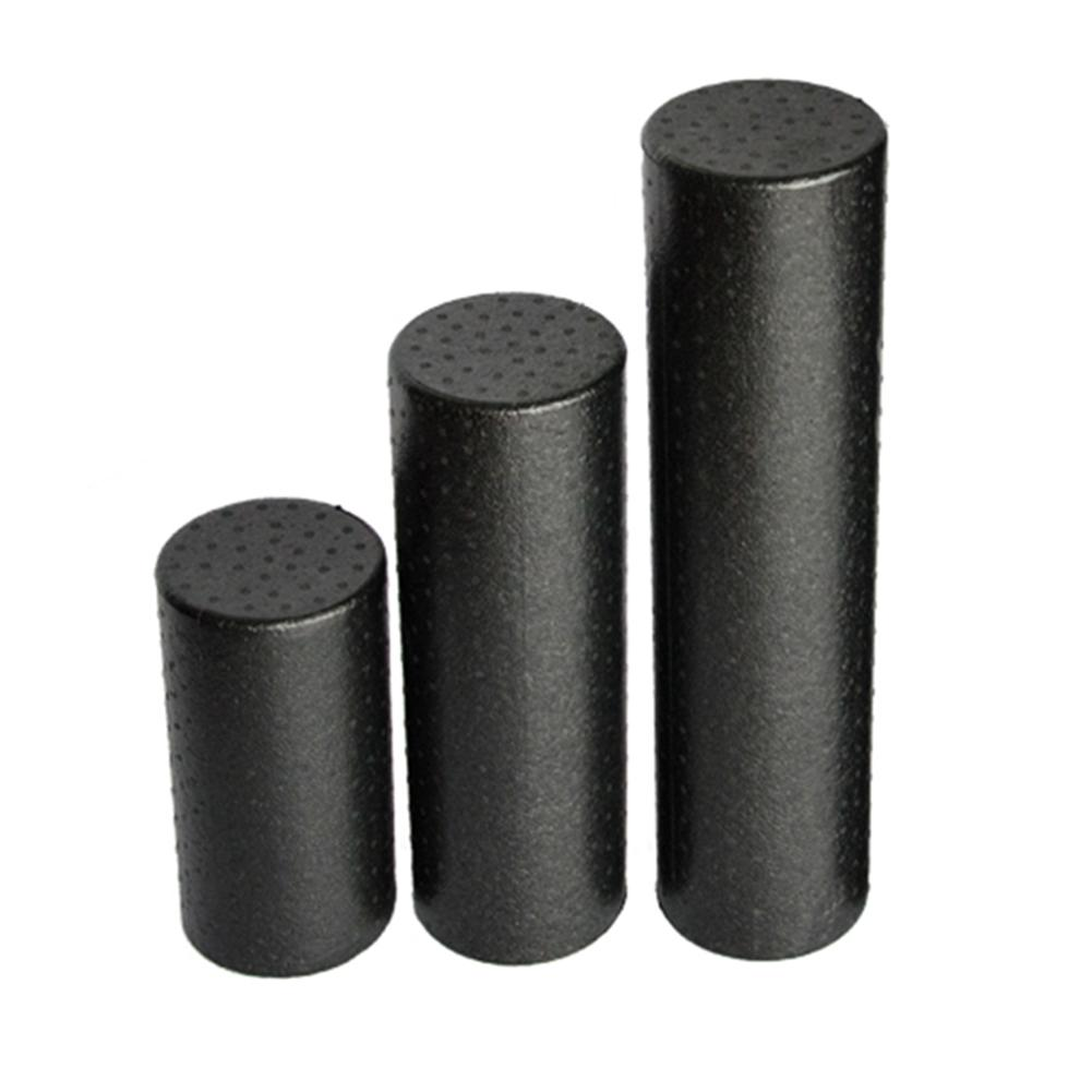 Black Yoga Blocks Gym Foam Roller Yoga Column Muscle Roller Stick Balance Training Shaft Massage Roller Fitness Equipments muscle relaxation massage roller solid fitness yoga roller body leg back muscle trigger point massage stick roller yoga roller