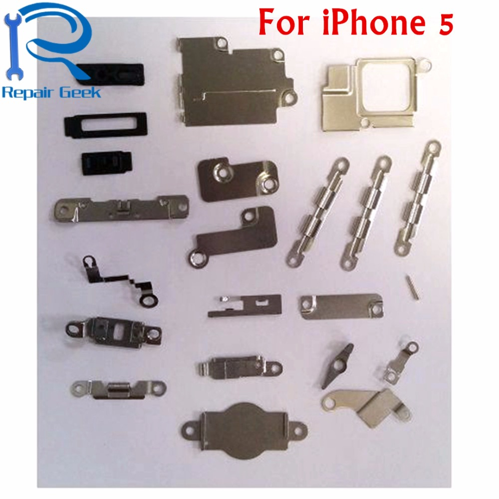 US $3 42 27% OFF|1Sets For iPhone 5 5G Inner Accessories Inside Small Metal  Parts Holder Bracket Shield Plate Set Kit Repair For iPhone 5 five-in