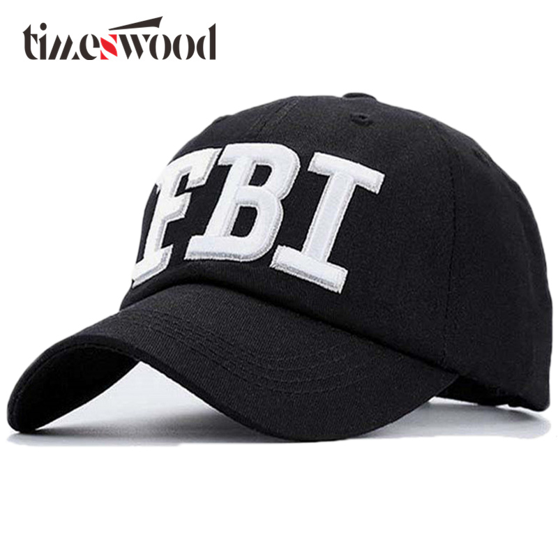 [TIMESWOOD] Casual 2017 Fashion Bones Hat Army Hot Cool Popular Casquette Men Women 2017 Police FBI Tactical   Baseball     Cap