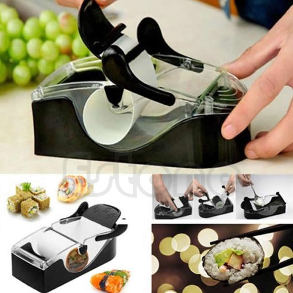 New-Sushi Roller Cutter Machine Kitchen Gadgets Magic Maker Perfect Roll DIY Tool Free Shipping