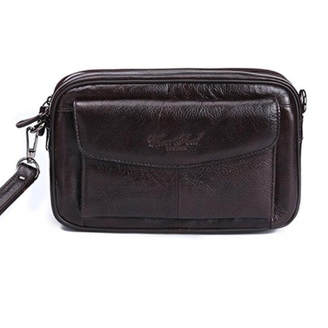 CHEERSOUL 2016 Designer Genuine Leather Wallets Men Purse Clutch Masculina Male Handy Bags Wallet Fashion Money Handbag
