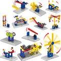 2016 Новые Механические Строительные Блоки детская Наука Развивающие Игрушки DIY игрушки модель машины Собраны строительный блок