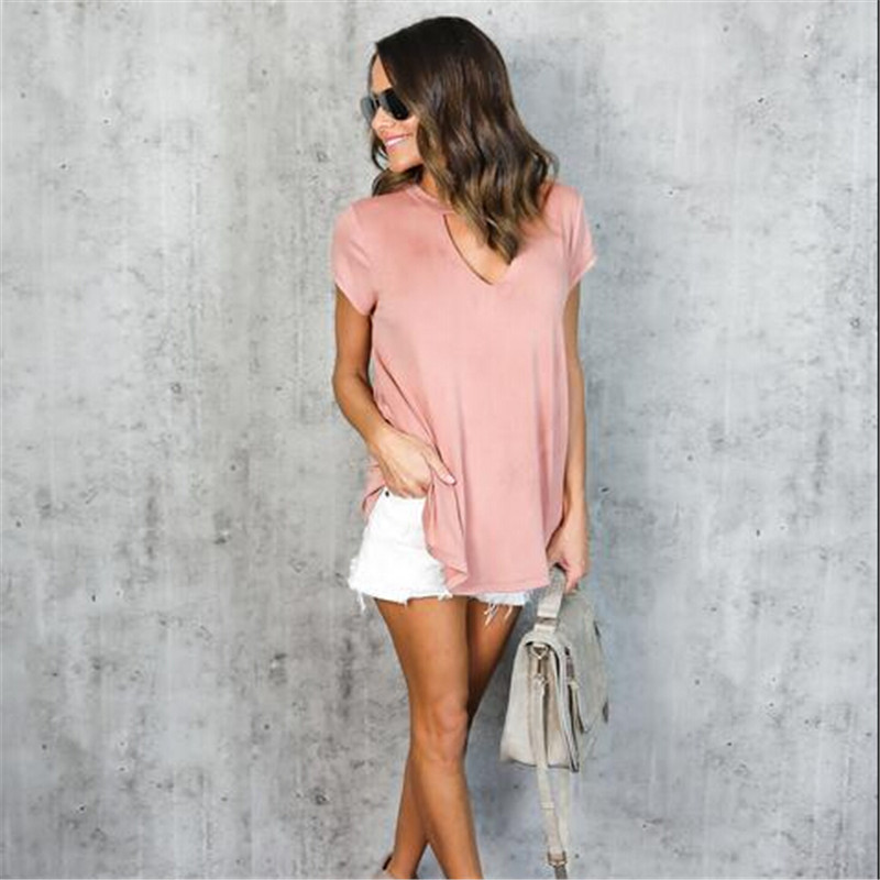 HTB1t33.QpXXXXcFaXXXq6xXFXXXI - Women Fashion T-Shirts Summer Cotton Short Sleeve Casual