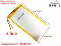 3 라인 3.7 볼트 5000 미리암페르하우어 3574149 폴리머 리튬 이온/리튬 이온 배터리 (ATL 휴대) 태블릿 pc, 전원