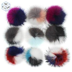Image 3 - Pompons en vraie fourrure de Raccon 15 16cm, bonnet, bonnet tricoté, foulards en fourrure véritable, vente en gros
