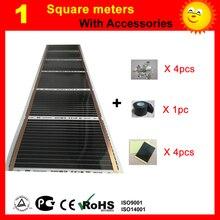 Infrared under floor Heating film, 220Wt/square meter, floor heating film with accessories for room warm