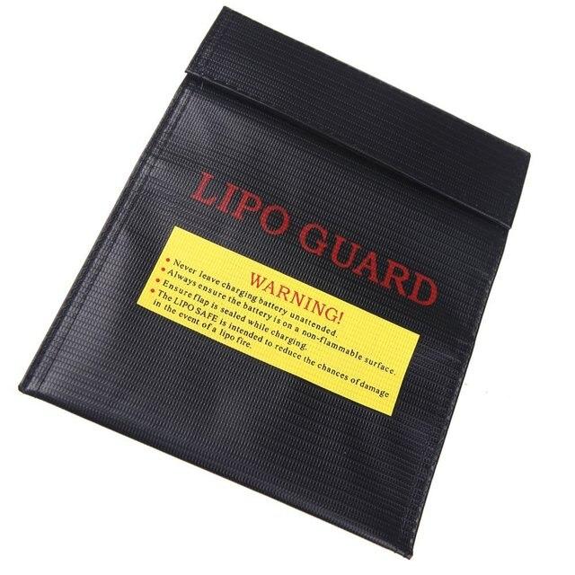 Оптовая 8X Lipo Батареи Безопасности Сумка Безопасный Гвардии Зарядки Мешок 23X18 Cm Черный