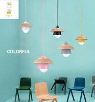 الحديثة الشمال أمبيت قلادة أضواء الدنمارك الملونة معكرون الألومنيوم قلادة led مصباح المطبخ مطعم ضوء السقف تركيبات|أضواء قلادة|   -