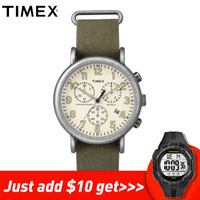 2018 Limited For Timex Original Mens Watches Tw2p855 Weekender Chrono Quartz Canvas Date Luminous Multi function Male Watch