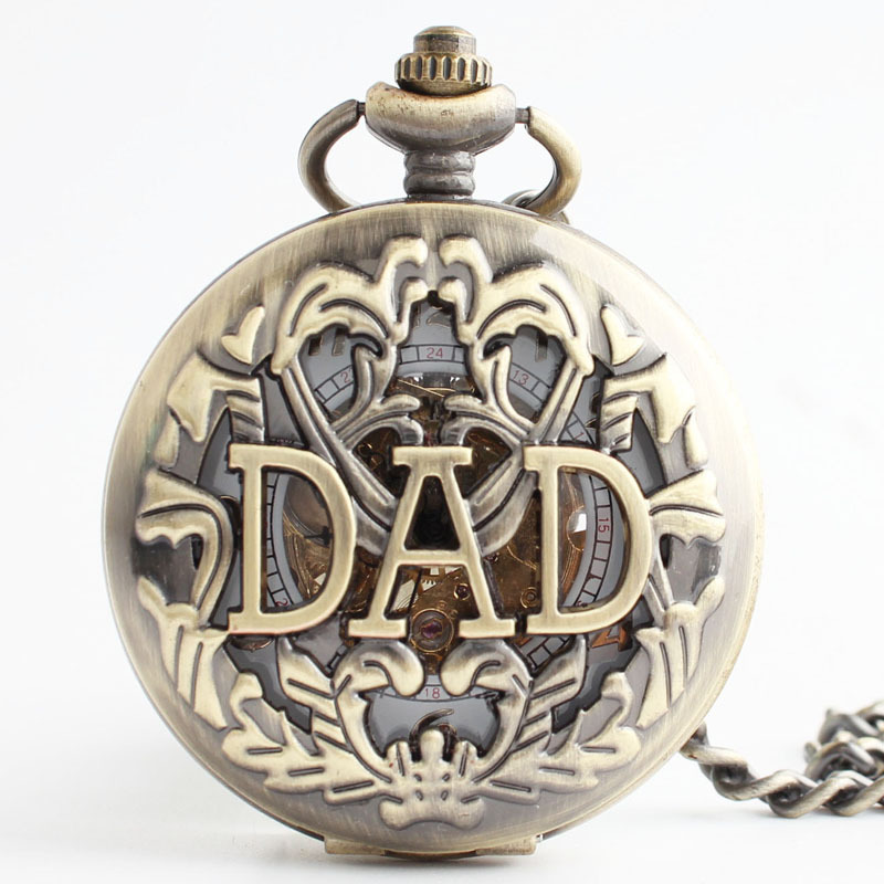 50pcs/lot Wholesale Steampunk Engraving Hand Wind Mechanical Pocket FOB Watches Father's Day Free Shipping DHL Free Shipping